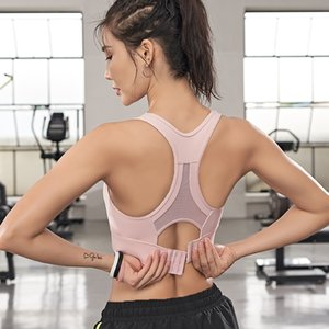 Ropa de gimnasio deportes sujetador superior alto soporte sexy acolchado entrenamiento entrenamiento entrenamiento aptitud deporte femme cultivo malla yoga brassiere