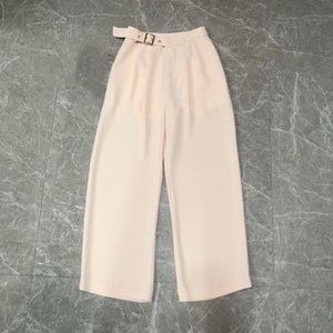 2020 ladies fashion loose side belt trousers 0609