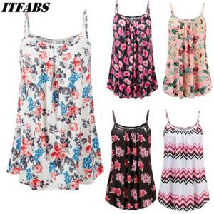 Maniche corte delle donne sexy estate floreale del vestito delle signore Cami partito casuale mini abito Bud 2019 nuova maglia aderente Abiti Plus Size