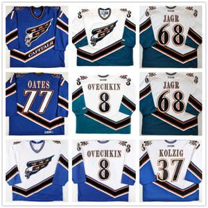 사용자 정의 워싱턴 수도 68 Jaromir Jagr 8 Alexander Ovechkin 77 Adam Oates Hockey Jersey 스티치 CCM 로고 모든 이름 귀하의 번호 사용자 정의
