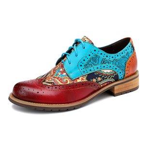 2020 Spring New Casual Retro National Style Brock Fringe Leather Fashion Shoes Ladies Shoes Sapato Feminino sfy01