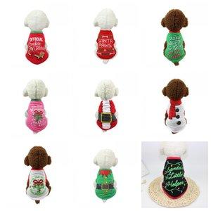 Nueva ropa creativa para perros de muchos tipos, mantiene la Navidad cálida, suministros para mascotas de varios colores, impresión ecológica, alta calidad, 7 5bf3