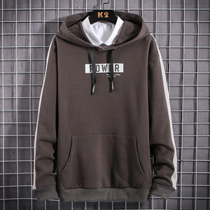 EL BARCO New Spring Cotton Hoodies Men Casual Sweatshirt Soft Black Grey Hooded Tops Shirt Harajuku Grey White Male Jackets Coat
