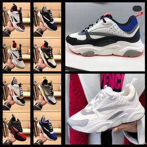 Новое высокое качество B22 B23 Мужская Холст и телячьей кроссовки кроссовки Женская мода кроссовки французский дизайнер высокого качества Повседневная обувь