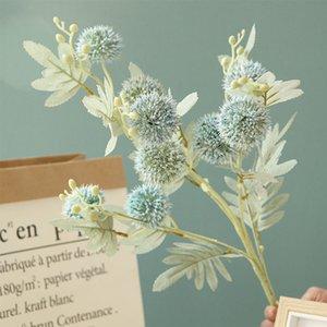 88cm Artificial Plastic Thorn Ball Dandelion Flower Artificial Flowers With Leaves Fake Flower Plants Diy Home Garden Decoration