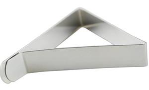 500 unids Clips de la Cubierta de Mantel de Acero Inoxidable Triángulo Titular de Paño de Mesa Boda Prom Mantel Abrazaderas Prácticas Herramientas del partido