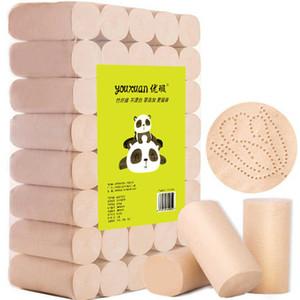 DHL корабль из бамбука и древесного волокна туалетной бумаги натурального неотбеленного и не добавили четыре слоя рулонной бумаги предметы первой необходимости Бесплатная доставка