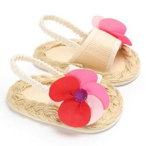 아기 유아 키즈 소녀 등나무 유일한 유아용 침대 샌들 유아 신생아 꽃 신발