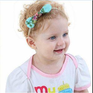10pcs Kids Christams Hairbands New Nylon Baby Girls Headwear Soild Color Bowknot Elastic Headband Hair Accessories Cute Hot Sale