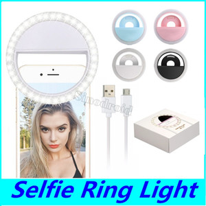 الصمام الدائري صورة شخصية ضوء USB حلقات قابلة للشحن ملء ضوء إضاءة الكاميرا التكميلية التصوير للهواتف المحمولة الذكية DHL 100PCS