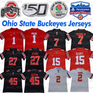 Ohio State Justin Поле штат Огайо Джерси JK Dobbins Chase Young 15 Elliott Дуэйн Хэскинс младшего Ник Боз Арча Griffin Эдди Джордж