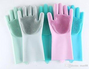Silicone dishwashing gloves dishwashing brush housework gloves kitchen cleaning gloves