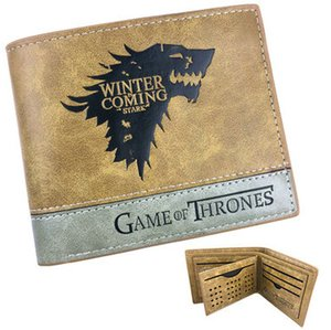 Winter coming wallet Game of Thrones note purse Ice wolf teleplay short leather cash note case Money notecase Change burse bag Card holders
