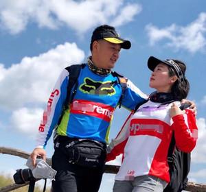 2020 sıcak satış hızı damla hizmet tilki kafası bisiklet Jersey uzun kollu lokomotif giyim üreticileri özel yarış
