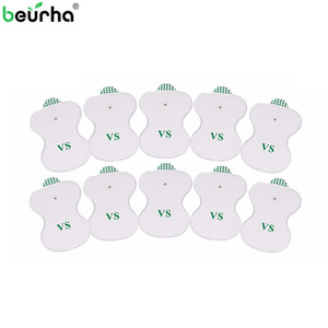 Beurha 10PCS Pads électrode pour la thérapie TENS numérique de la machine électronique cervicale physiothérapie Vertebra Massager Pad Medium