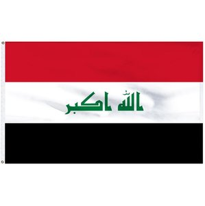 Iraq bandiera 3x5 FT stampato in poliestere Fly 90x150 CM Iraq National Flag IRQ Paese Banner Bandiere