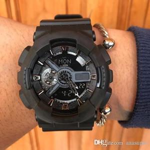 2019 Мода прибытия Мужские Спорт Военные Наручные часы Многофункциональные Авто легкие кварцевые часы светодиодные цифровые для студентов Человек Мужской часы