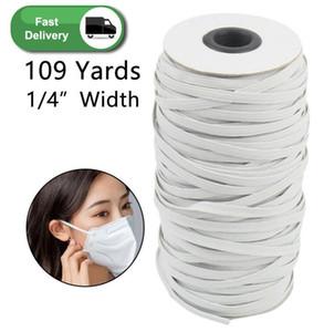 109 yardas Longitud DIY trenzada elástico Band Cord Knit Band coser Ampliamente utilizado para las máscaras de 3 mm 4 mm 5 mm FY7005