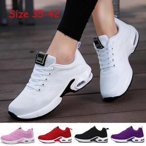 Cojín VIERUODIS Mujeres aire respirable zapatillas de deporte de los zapatos corrientes de los hombres de las mujeres aptitud al aire libre Deportes Mujer Encaje de Casual