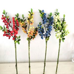 240pcs lot Artificial Flower Bouquet Bridal Wedding Bouquet Party Decoration indoor Home Decor Foam Berry Bunch