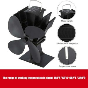 Fireplace 4 Blade Heat Powered Stove Fan komin Log Wood Burner Eco Friendly Quiet Fan Home Efficient Heat Distribution