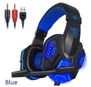 Game Headset Wired Gamer headphones Stereo Sound Over Ear earphones with Mic and LED Light for Computers Headphones