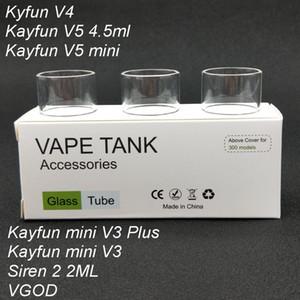 30 pezzi tubo di vetro Pyrex di ricambio originale per Kayfun V4 / VGOD / Siren 2 2ML / Kayfun mini V3 Plus / Kayfun v5 mini serbatoio Atomizzatore