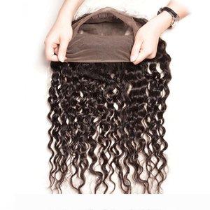 Brésil Human Hair Pre plumé 360 Lace Frontal avec Bundles 360 Lace Frontal Fermeture avec 3 Bundles Brésil Vague