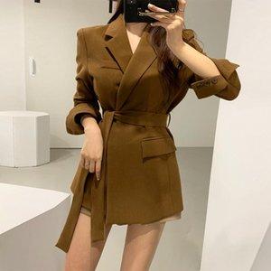Kadın ceketi küçük takım elbise yüksek kaliteli moda ceket ceket yeni şık bayanlar orta uzunlukta 2020 Kore versiyonu feminen