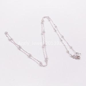 Autêntica 925 colar de prata Urso de Prata Cadeia Choker único europeu urso urso Estilo da jóia presente 211902540