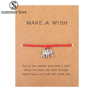 Make a Wish Bracciale con Gift Card Multi-tipo braccialetti di fascino dei braccialetti per le donne gli uomini amicizia gioielli Dichiarazione Biglietti d'auguri-Z