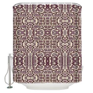 동물 패턴 사문석 인쇄 PrupleFabric 샤워 커튼 샤워 커튼 라이너 욕실 액세서리 커튼 세트
