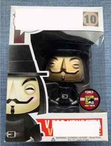 For Vendetta Yepyeni Funko POP V !!! Model Vinil Vendetta Şekil 10. 10. Altın YENİ Eylem Oyuncak Rakamlar