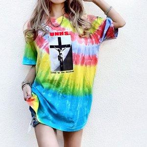 hot selling top! UNHS 20SS Tie-dye BOGO TEE Street wear Europe Paris Fashion Men High Quality Cotton Tshirt