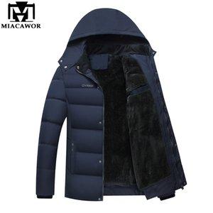 MIACAWOR 2018 Nuovi uomini casuali Parka in pile giacca invernale addensare giacche calde con cappuccio soprabito giacca imbottita in cotone J470