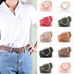 Nouvelle mode des femmes dames de coeur en métal boucle de ceinture en cuir Faux Jeans Robe taille de bande Ceintures élégantes Ceintures femmes