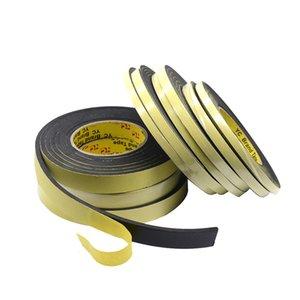 Cheap Tape 1 3mm 5mm Thick Black Foam Sponge Rubber Strip Tape Waterproof Single Sided Adhesive Anti-collision Window Door Seal Strip