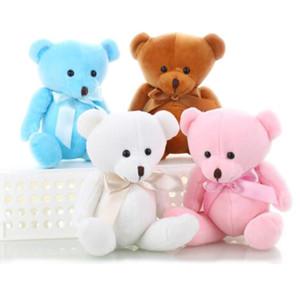 Oso de peluche encantador felpa pequeños osos muñeca de dibujos animados para la boda ramo de flores regalos de la promoción de juguete oso 15cm