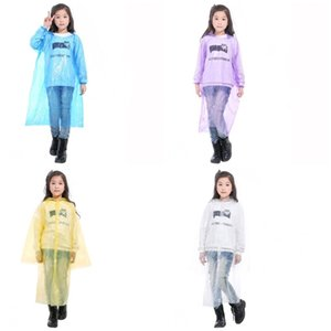 Ropa impermeable capilla poncho de lluvia elástico muñeca desechable Escalada Must emergencia Rainwear niños Impermeables En existencias 1 8qh2 E19