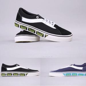 2020 Mode van alte x Rhude Canvas Sneakers Männer Frauen COBRanded Kennzeichen Skateboard Sportmode Beiläufige Schuhgröße36-44