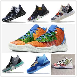 회색 스퐁 밥 Kyrie 5 GS는 고소 신선한 남자 농구 신발 oncepts이 Kyrie 5 오리온 벨트 파인애플 하우스 디자이너 스니커즈 CJ6951-800을 X 유지