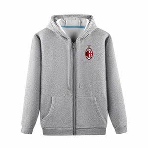 2020 AC Milan Boutique capa de la chaqueta la sudadera de lujo capa de fútbol con capucha de manga larga otoño Deportes cremallera Marca rompevientos