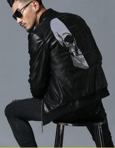 Abbigliamento maschile Giacca in pelle Designer Moto Giacche in pelle Colletto da baseball ricamato nero Cappotto in ecopelle Marchio di fabbrica Marea