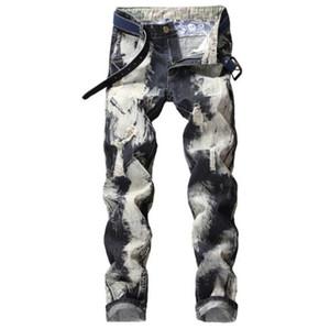 Trous Designer Hommes Jeans Fashion Patch Zipper Fly Crayon Pantalons simple taille Jeans printemps milieu de l'automne