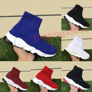 2019 Hot rojo velocidad negro trenes hombre calcetín zapatos podar zapatillas de deporte de diseño triples hombres blancos mujeres de lujo de moda reales EUR36-45