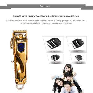 Kemei 2010 триммер волос KM-2010 беспроводная Professional USB зарядка лучшие ножницы для бритья лица newclipper kinKR