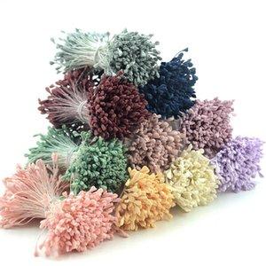 350pcs 5mm Mini Estambre Mate hechos a mano de flores artificiales para el banquete de boda de la decoración del hogar DIY guirnalda de flores Craft Accesorios