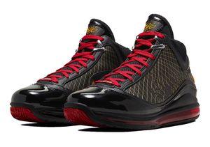 Горячая Леброн 7 Фэрфакс Varsity Красный продажам в коробке новый мужчин женщин баскетбольной обуви магазин оптовых цен размер40-46