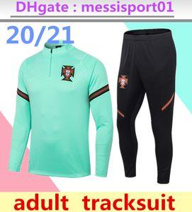 2020/21 portugal Survêtement Mens formation de soccer 2020 2021 Portugal costume de jogging survêtement d'entraînement de football chandal futbol survetement pied