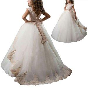 2020 new fashion children's clothing Princess Lace Children's Dress Flower Girl Dresses